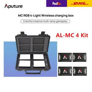 Aputure AL-MC 4-Light Kit RGB LED Video Light Kit 3200K-6500K Wireless Charging