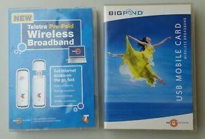 Two Telstra 3G Mobile Broadband USB Modems / Dongles Models BP3-USB and MF626
