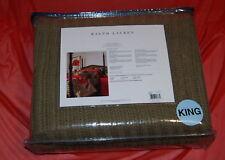 NIB RALPH LAUREN Modern Sands Amelia military green King Bed cotton Blanket $595