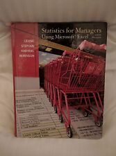 Statistics for Managers Using MS Excel by Levine, Stephan, Krehbiel, Berenson