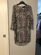 Decjuba Leopard Print Shift Dress Size 10 Fashion