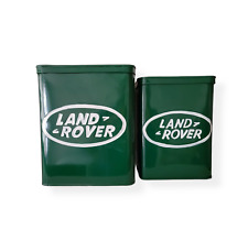 Land Rover Set of 2 Metal Storage Boxes, Cans/Cannister. Garage Tools, Man cave