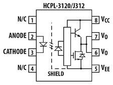 Optokoppler a3120 dip-8 High Side FET Driver EQ Avago vo3120 HCPL - 3120-000e/060e