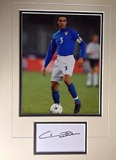 PAOLO MALDINI - ALL TIME GREAT FOOTBALLER - SUPERB SIGNED COLOUR PHOTO DISPLAY