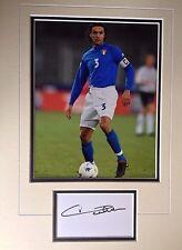 Paolo MALDINI-tutti i tempi di grande calciatore-Superbo DISPLAY A COLORI FOTO AUTOGRAFATA