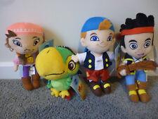 DISNEY JAKE & THE NEVERLAND PIRATES -Set of 4 Plush Soft Toys Doll Izzy, NEW