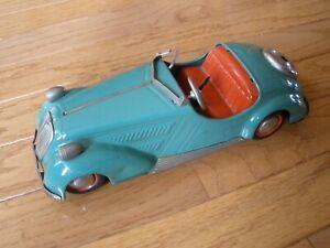 1950s DISTLER BMW CONVERTIBLE D-3150 WIND UP TIN TOY CAR