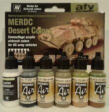 Vallejo 71.212, MERDC Desert colors acrylic paint set.