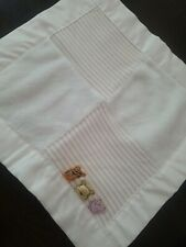 Classic Winnie The Pooh Cream Baby Lovey Satin Square Patch Ivory plush blankie
