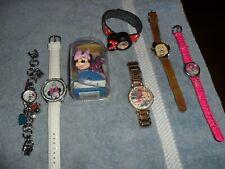 (7) LOT Girls DISNEY Timex + WATCH Minnie Mouse Dopey Snow White Japan