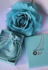New Tiffany & Co Atlas Pierced Pendant Sterling Silver Necklace