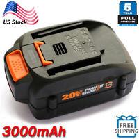 WA3525 For WORX WA3520 20V Max Lithium Ion 3.0AH Battery WA3578 WG155 WG163 NEW