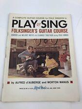 Vintage 1964 Play And Sing Folksingers Guitar Course Folk Singers D'auberge