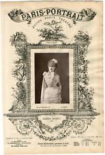Lemercier, Paris-Portrait, Berthe Deligny, actrice Vintage albumen Print Tirag