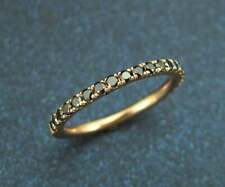 1Ct Round Cut Black Diamond Half Eternity Wedding Band Ring 14K Rose Gold Finish