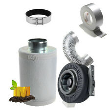 150mm (6 inch) Hydroponics Ventilation Duct Fan Carbon Filter Ducting Combo