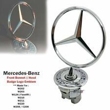 Mercedes-Benz C126 560SEC posterior tronco y Bonnet Logo emblema insignia Set genuino