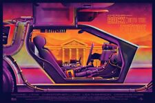 BACK TO THE FUTURE Hand #ed XX/200 MONDO Screen Print Poster DKNG FOIL VARIANT