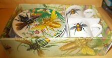 BUGS/INSECTS HIGHLY COLOURFUL ESPRESSO SET UNUSED