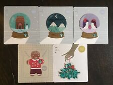 """Canada Series Starbucks """"HOLIDAY DIE CUT SET 2018"""" 5 Gift Cards -New No Value"""