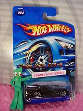 2006 Hot Wheels DODGE VIPER GTS-R #62 oc☆Black/Red; pr5☆Mopar Madness
