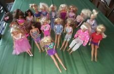Lot Of 18 Barbie Dolls - Used - With clothing