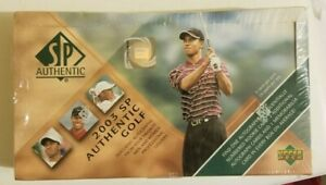 2003 Upper Deck SP Authentic Golf Box.  24 Packs.  Perfect condition