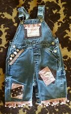 VGUC Boutique Jean Overall Very Unique Size 9-18 mo. $110.00