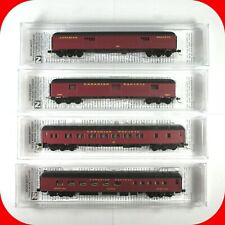 N Scale Micro Trains CANADIAN PACIFIC Passenger Car 4-Pack Set CP Diner Parlor..