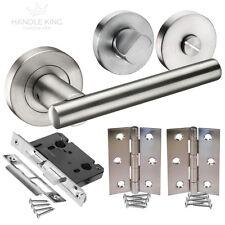 Brushed Stainless Steel Internal Door Handle Pack - Bathroom Door Handles