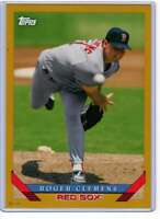 Roger Clemens 2019 Topps Archives 5x7 Gold #297 /10 Red Sox