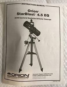 Orion Starblast 4.5 EQ #9798 Equatorial Newtonian Reflector Telescope