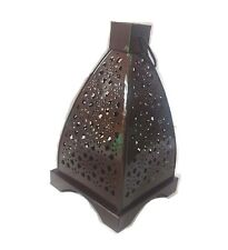 Copper Hollow Moroccan Cage Lantern Candle Holder Hanging Decor Christmas Gift