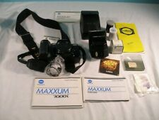 Minolta Maxxum 7000i SLR Film Camera Body With 3200i Flash & Accessories