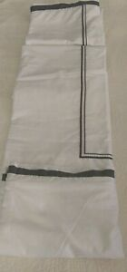 HOTEL COLLECTION EMBROIDERED FRAME FULL/QUEEN DUVET COVER WHITE/BROWN