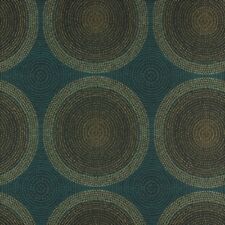 Arc/com Shibori Blueberry Woven Modern Contemporary Circles Upholstery Fabric