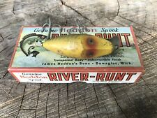 New listing Vtg 60s Heddon River Runt Spook Sinker Hook Bait Fishing Lure W/ Box Pamphlet