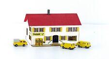 N - Lemke LC5028 Minis Deutsche Post VW T3 Set (3 St.) mit Lasercut Postgebäude