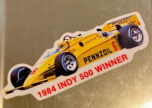 Rare Vintage 1984 Pennzoil Indy Car Sticker Rick Mears #6