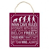 Man Cave Rules Plaque Dad Grandad Brother Uncle Birthday Father's Day Gift Sign