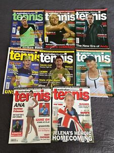AUSTRALIAN TENNIS  MAGAZINE 2009  Bulk Lot (8 issues) - Posters included