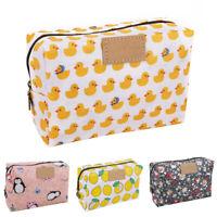 Fashion Floral Duck Printed Waterproof Large Capacity Woman Cosmetic Storage Bag