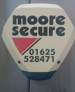 Dummy Burglar Intruder Alarm Siren Bell Box White Red Blue Moore Secure Used