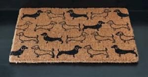 Dachshunds Sausage Dog Coir Door Mat  Front Door welcome door mat 75 x 45cm mum