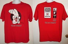 Angry Rabbit GA-3 DMAT Anime  Weekend Atlanta Medical T-Shirt '04 L Red