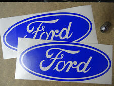 "2 x Ford LARGE Car Van Vinyl Decal Stickers 300mm 12"" COLOUR CHOICE - DARK BLUE"