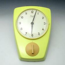 Vintage Mid Century Kienzle Automatic Yellow Ceramic Kitchen Wall Clock w/ Timer