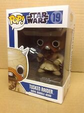 FUNKO POP! Star Wars Tusken Raider #19 Blue Box abovedado/retirado Vinilo Figura Nueva