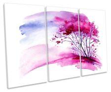 Árbol Rosa Impresión Floral Acuarela Enmarcada TREBLE LONA pared arte