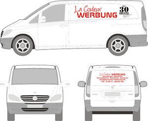 3-teilige KFZ Beschriftung, Fahrzeugbeschriftung, Autowerbung, Folie, Aufkleber